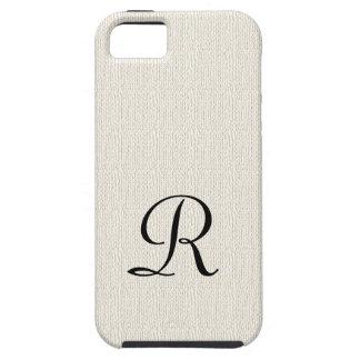Se rustique d'iPhone de monogramme de toile de Coque Tough iPhone 5