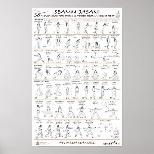 Seamm-Jasani: 58 bewegingen voor de Eeuwige Jeugd Poster