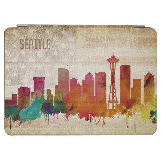 Seattle, horizon de ville d'aquarelle de WA | Protection iPad Air