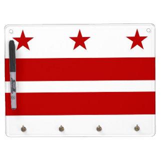 Séchez le conseil d'effacement avec le drapeau du tableau effaçable à sec avec porte-clés