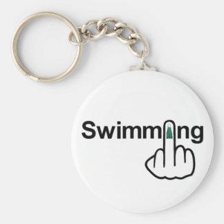 Secousse de natation de porte - clé porte-clés