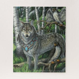 Seigneur de puzzle de loup gris de Falcons