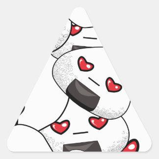Séjour près de moi - amour sticker triangulaire