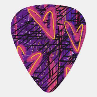 Sélection au néon de coeur onglet de guitare