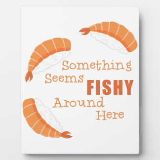 Semble de poisson plaque photo