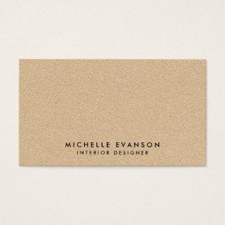 Sembler bronzage minimal simple de Papier Cartes De Visite