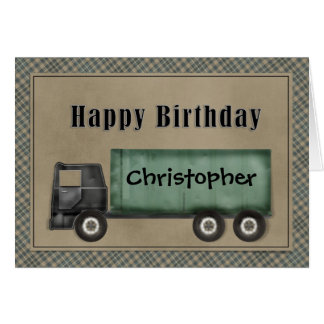 Semi carte d'anniversaire de camion