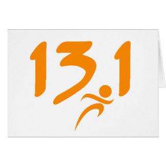 Semi-marathon 13,1 d'orange carte