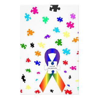 Sensibilisation sur l'autisme papier à lettre