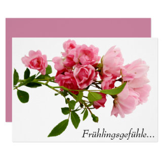 Sentiments de printemps carton d'invitation  12,7 cm x 17,78 cm