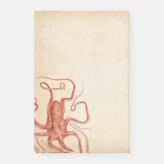 Sépia âgée par poulpe rouge Steampunk de mer