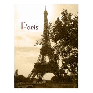 Sepia de Toren van Eiffel--Parijs Briefkaart