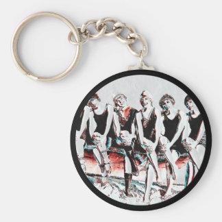Sept copains se baignants de beauté porte-clés