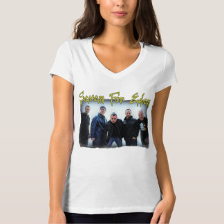 Sept pour Éden et V-Cou T de Karen des femmes de T-shirt