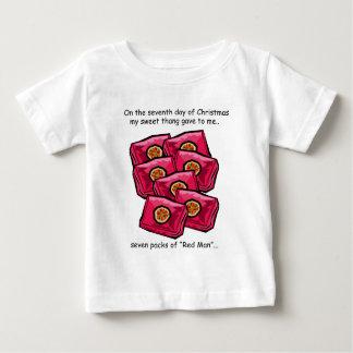 Septième Noël de plouc de jour T-shirt Pour Bébé