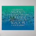Sérénité, courage, sagesse affiche