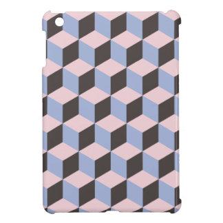Sérénité et motif de cube en quartz rose 3D Coques iPad Mini