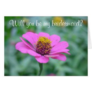 Serez-vous ma demoiselle d'honneur ? carte de vœux