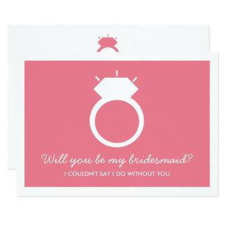 Serez-vous ma demoiselle d'honneur ? Carte rose
