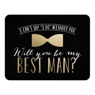 Serez-vous mon meilleur homme ? garçons d'honneur carton d'invitation 10,79 cm x 13,97 cm