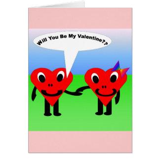 Serez-vous mon valentine ? ? carte de vœux