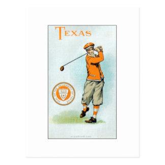 Série d université de Murad - 1910 - golfeur du Te Carte Postale