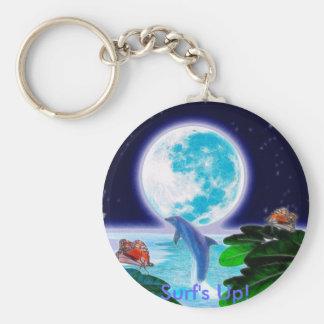 Série d'art de paradis de LUNE de DAUPHIN Porte-clés