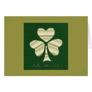 Série de collage du jour de Patrick de saint # 14 Carte De Vœux