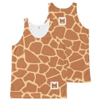 Série de monogramme : Girafe mignonne Débardeur Tout-imprimé