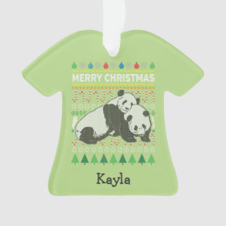 Série laide de faune de chandail de Noël de panda