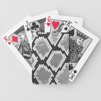 Serpent copie grise, de blanc et de noir jeu de cartes