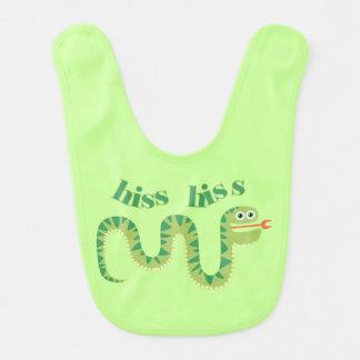 Serpent de sifflement de sifflement bavoir de bébé