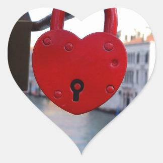 serrure d'amour à Venise Sticker Cœur