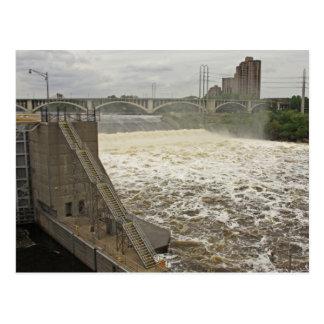 Serrure et barrage de Minneapolis Carte Postale