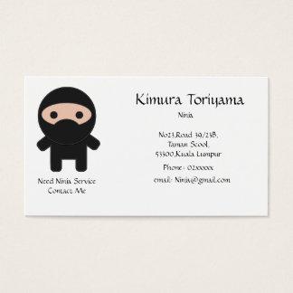 Service de Ninja Cartes De Visite