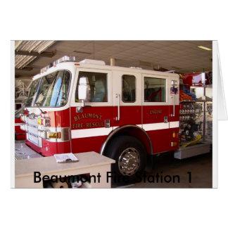 Service du feu de Beaumont Carte