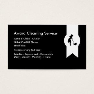 Service moderne de nettoyage cartes de visite