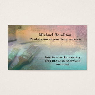 Service moderne élégant professionnel de peinture carte de visite standard