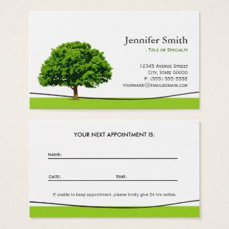 Service sage de soin de chêne - rendez-vous cartes de visite