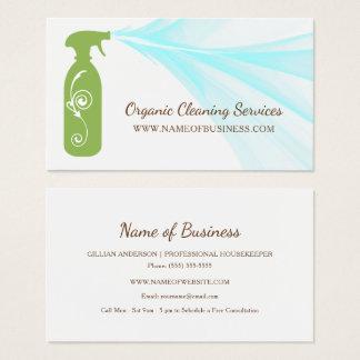 Services organiques de nettoyage de bouteille cartes de visite
