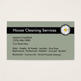 Services professionnels de nettoyage cartes de visite