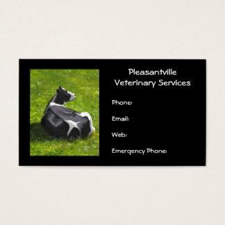 Services vétérinaires de peinture originale de cartes de visite