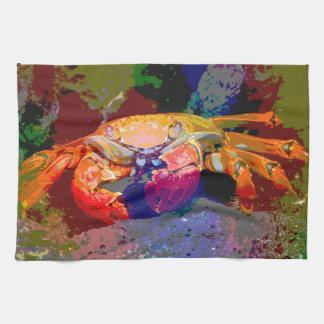 Serviette de crabe de couleurs foncées