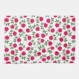 Serviette de cuisine anglaise rose de roses de thé serviette pour les mains