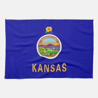 Serviette de cuisine avec le drapeau du Kansas,