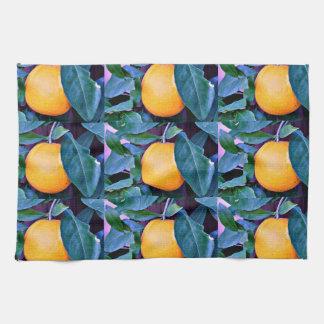 Serviette de cuisine d'arbre orange