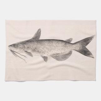 Serviette de cuisine de poisson-chat