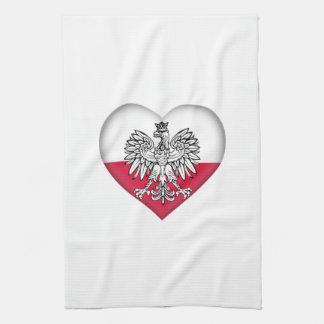 Serviette de cuisine polonaise d'amour