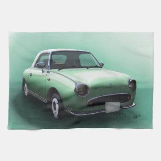 Serviette de main de Nissan Figaro de vert vert de