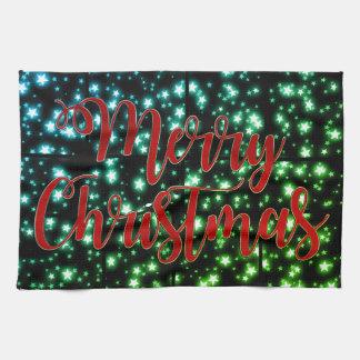 Serviette de nuit étoilée de Noël assez Joyeux